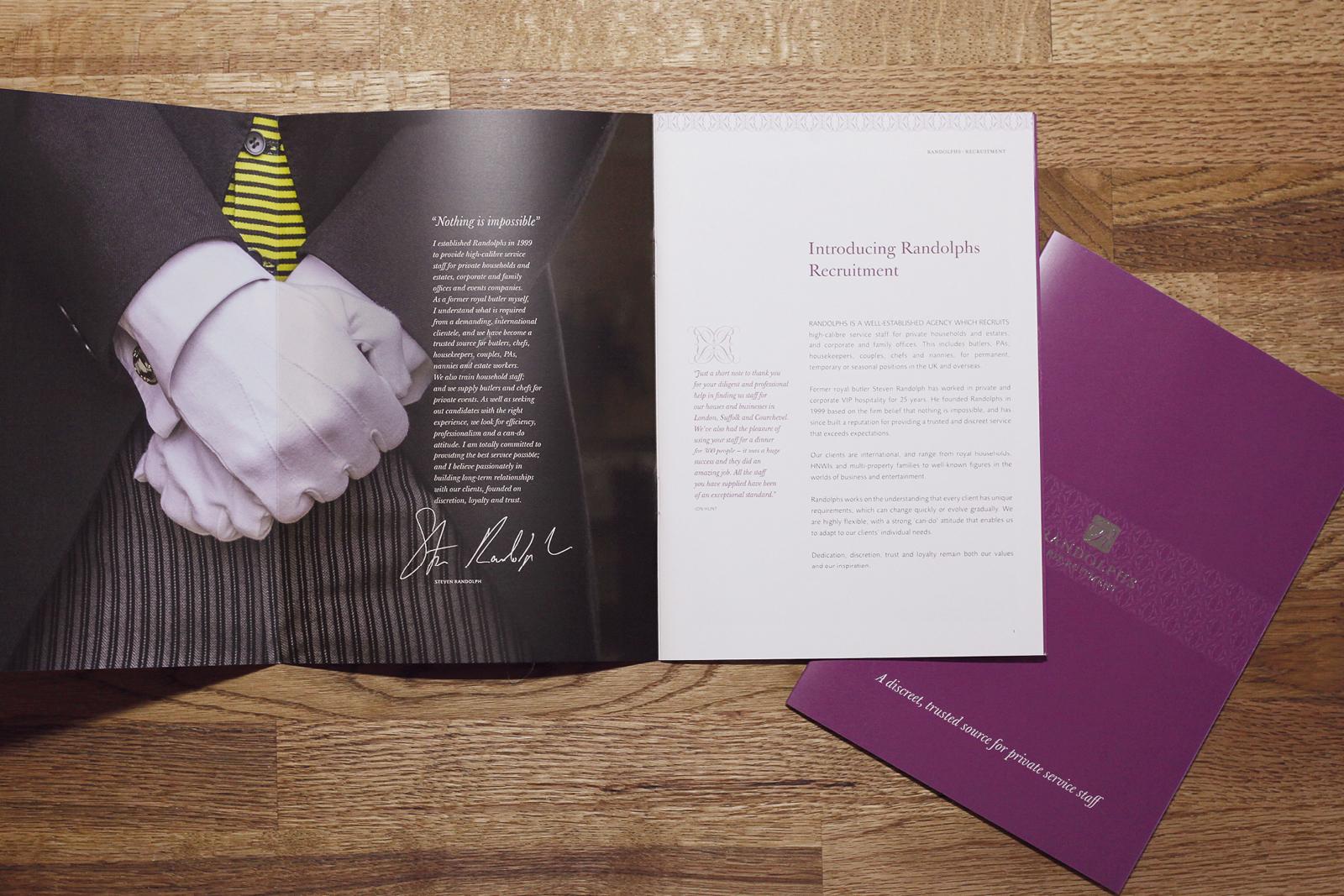 Randolphs Brochure