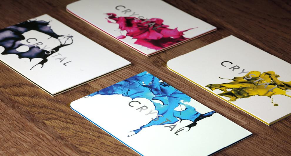 Crystal Press business cards | MW Studio