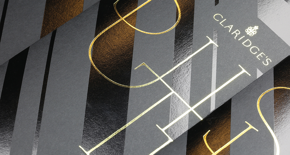 Brochure graphic design and production for Claridge's, London