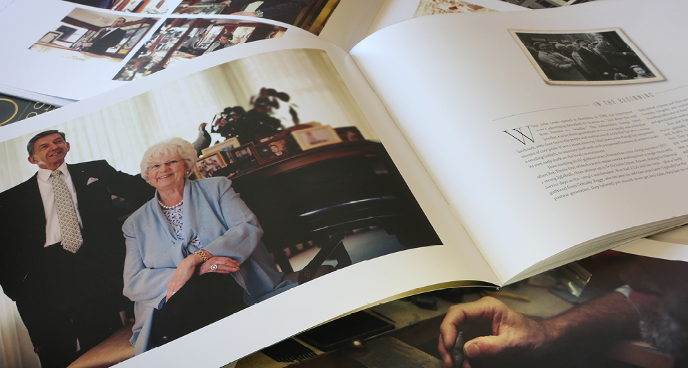 60th Anniversary brochure design and production for Finnies the Jeweller, Aberdeen