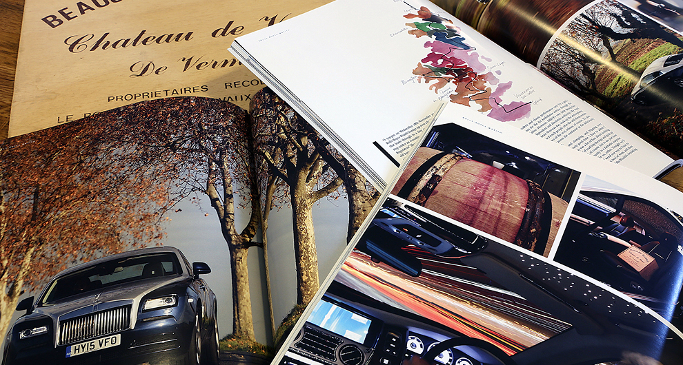 Rolls-Royce Wraith Beaujolais Nouveau photoshoot for H.R. Owen Drive Magazine: Issue 12