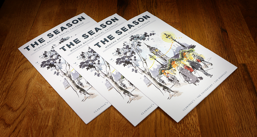 The Season: Autumn/Winter 2017 - Quarterly leaflet design for The Maybourne Hotel Group, updating guests at Claridge's, The Berkeley and The Connaught of highlights in the social calendar in and around London