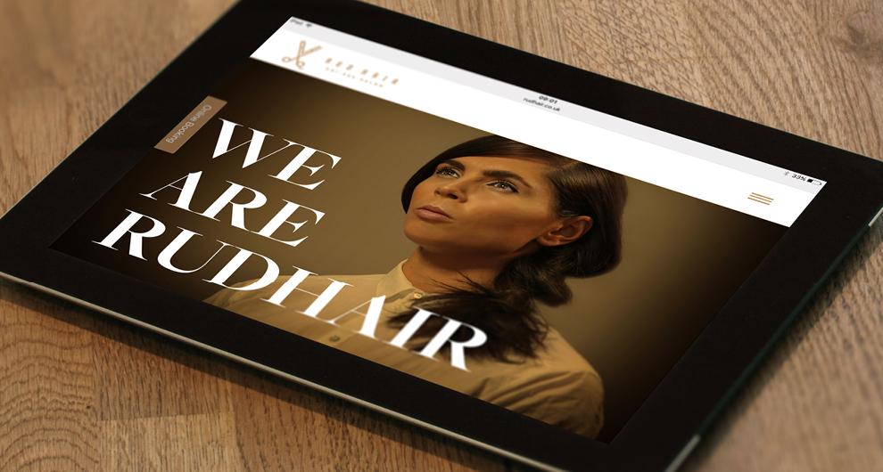 Rud Hair Branding & Website