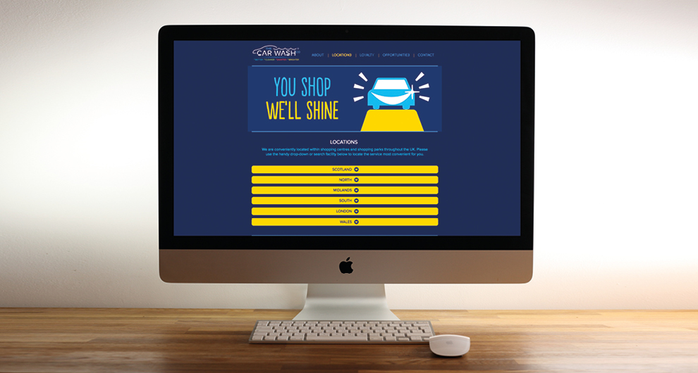 Build and nationwide launch of individual location specific websites and main group website for Hertfordshire based The Carwash Company