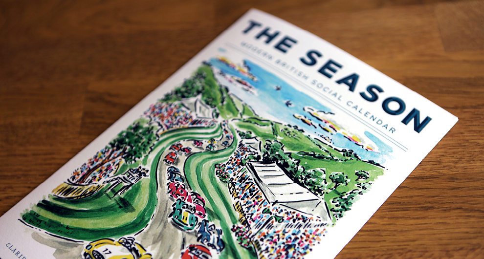 The Season: Spring/Summer 2017 - Quarterly leaflet design for The Maybourne Hotel Group, updating guests at Claridge's, The Berkeley and The Connaught of highlights in the social calendar in and around London