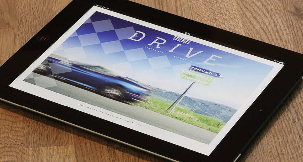 Interactive iPad app design and build for H.R. Owen Drive Magazine