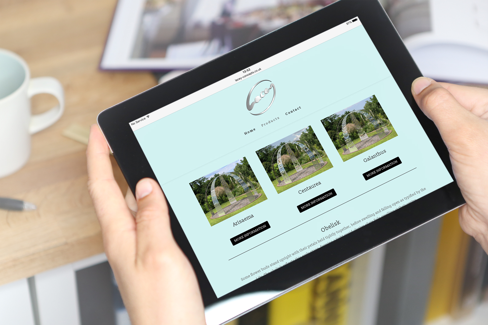 Wordpress website design and build for Hertfordshire based garden sculpture company, Lacey Concepts