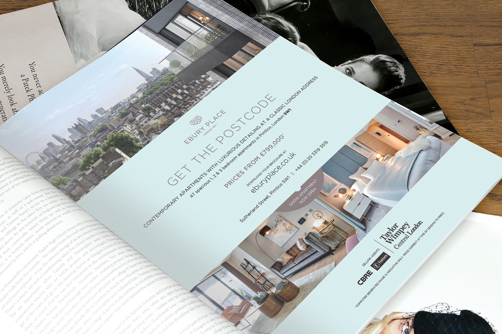 Print & digital marketing for Taylor Wimpey Central London and their 'Capital Collection' of London developments