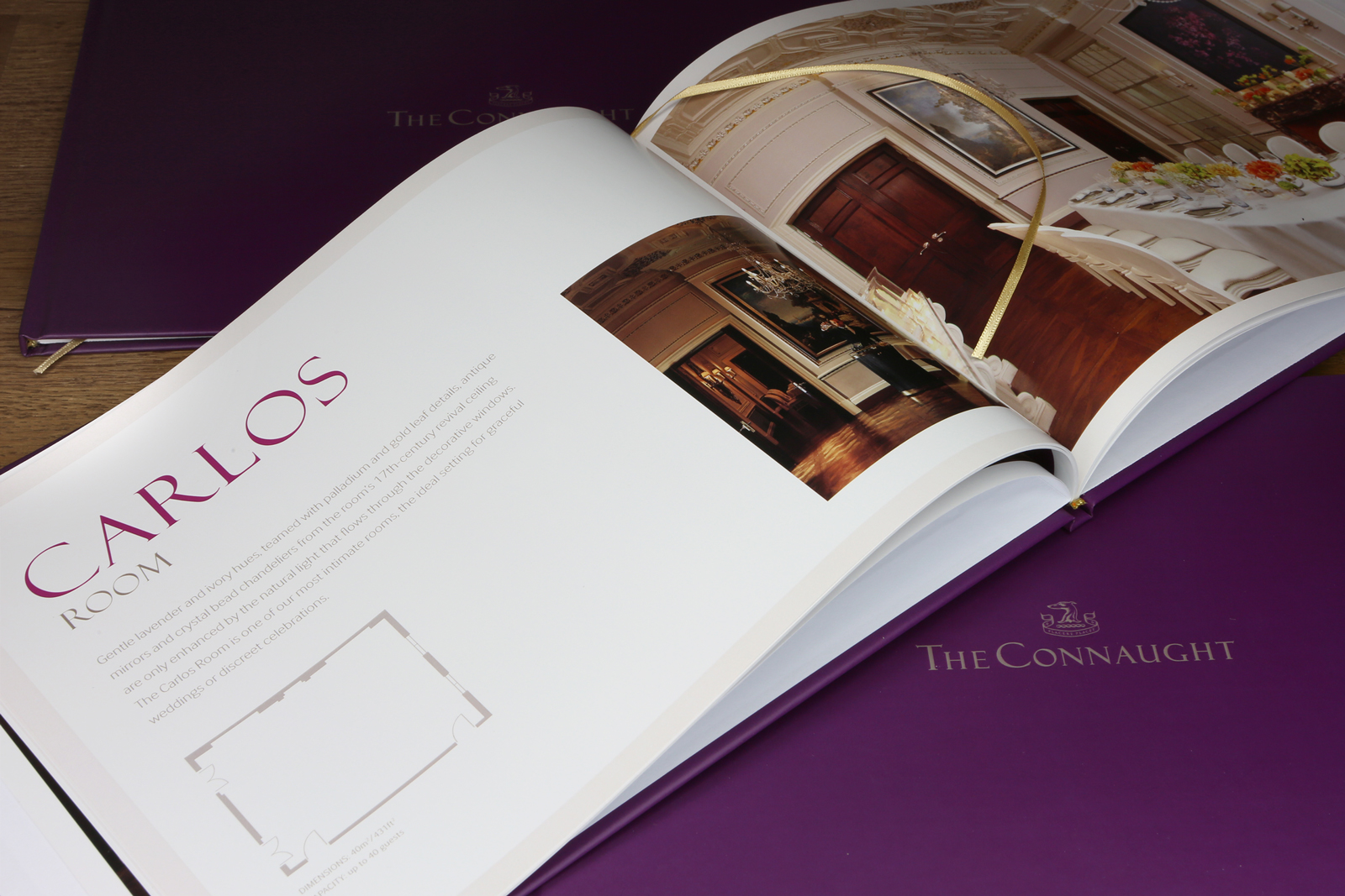 Bespoke luxury brochure design for The Connaught Hotel, London