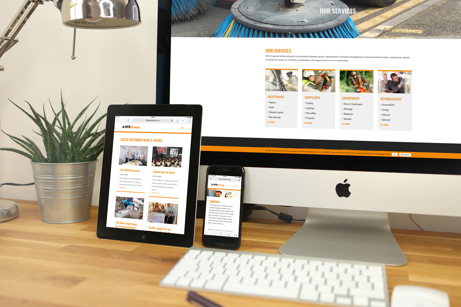 Bespoke WordPress website design and build for HTS Group Ltd, Harlow