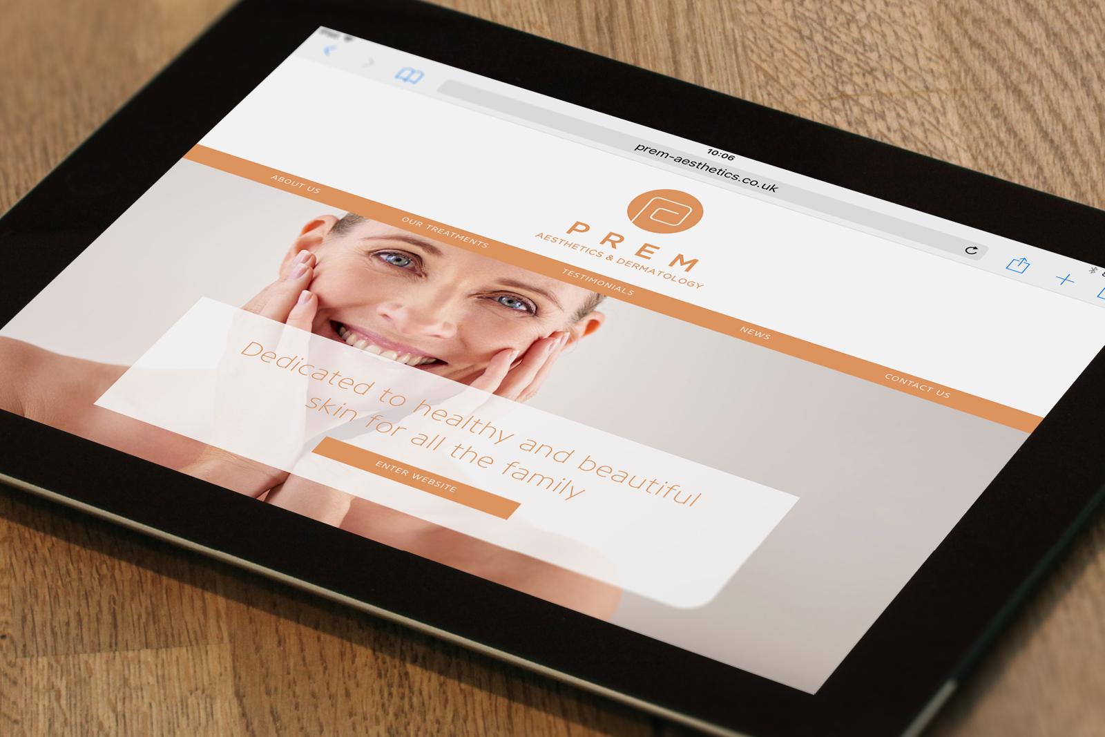 Branding and responsive website design for Prem Aesthetics, Sawbridgeworth