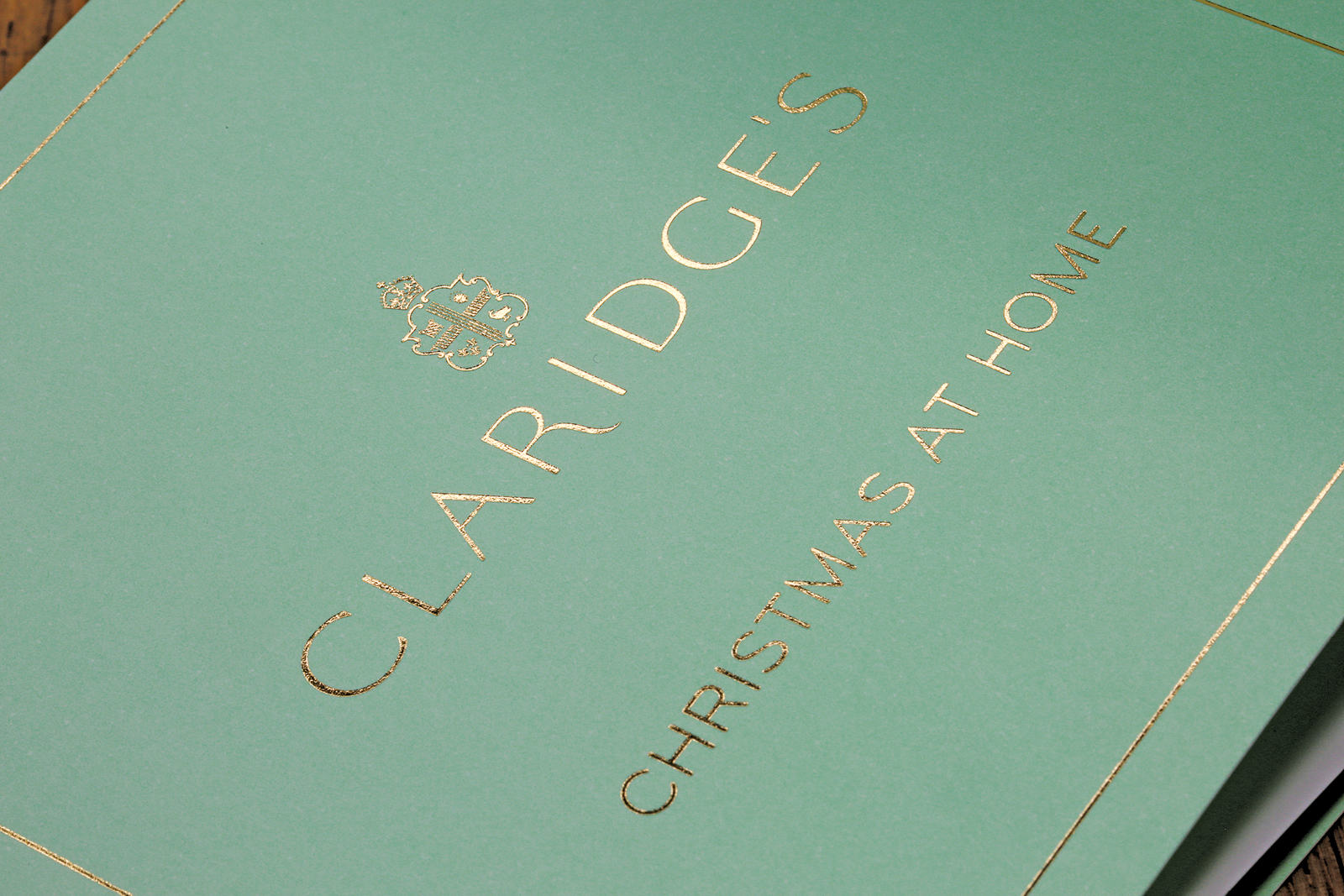 Christmas gifts concertina print design for Claridge's Hotel, London