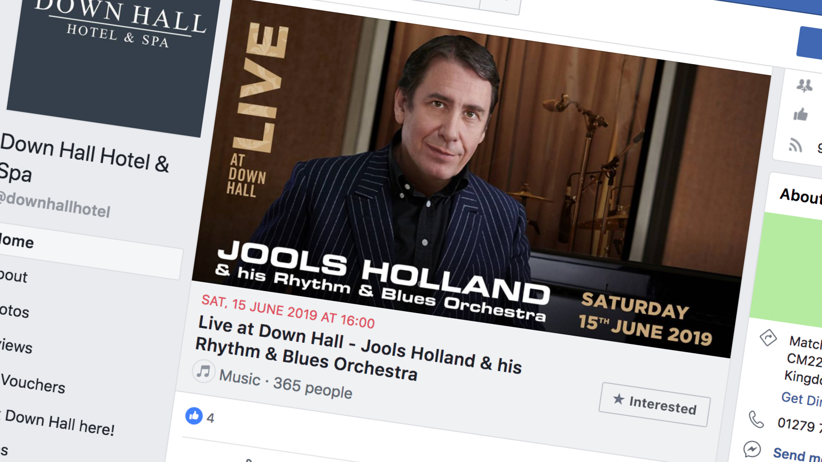 Live at Down Hall - Jools Holland (Facebook)