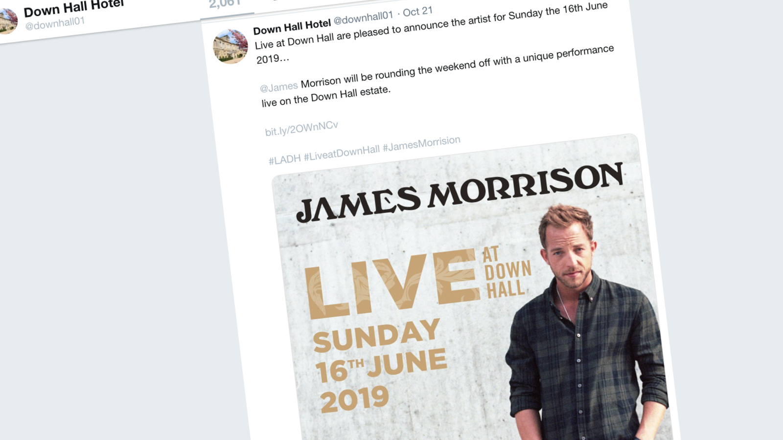 Live at Down Hall - James Morrison (Twitter)