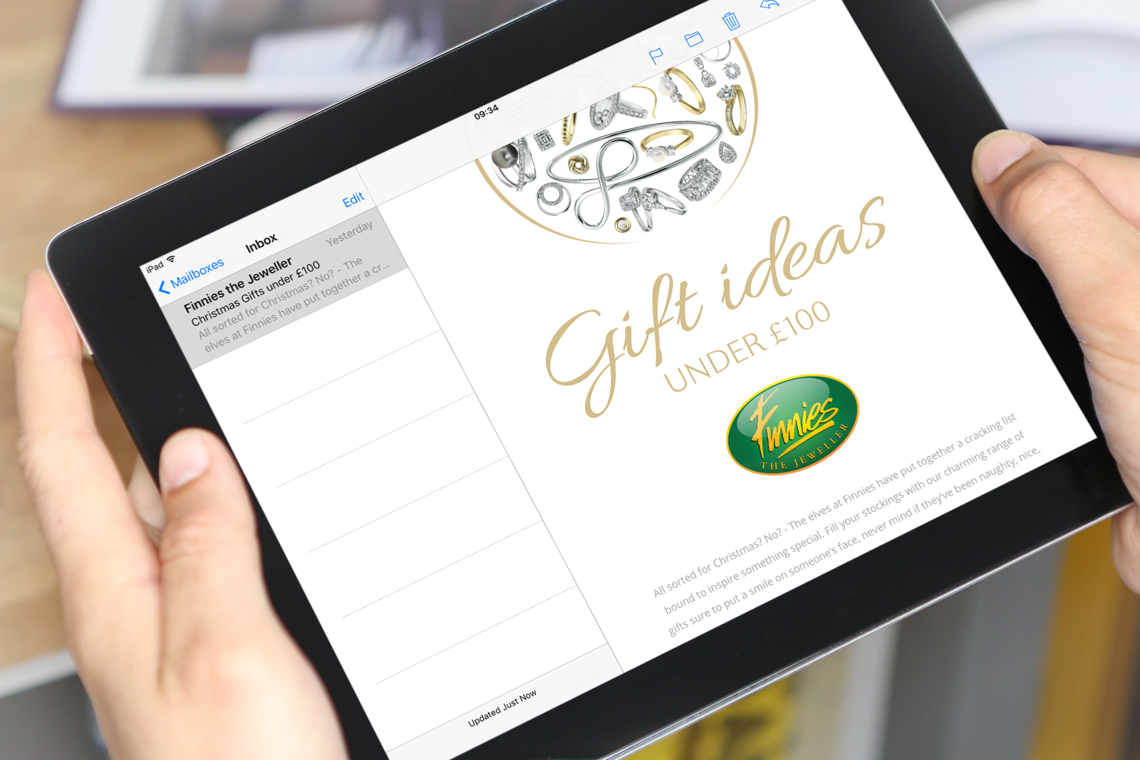 Web Design and production of 2018 Christmas campaign and competition microsite for Finnies the Jewellers, Aberdeen