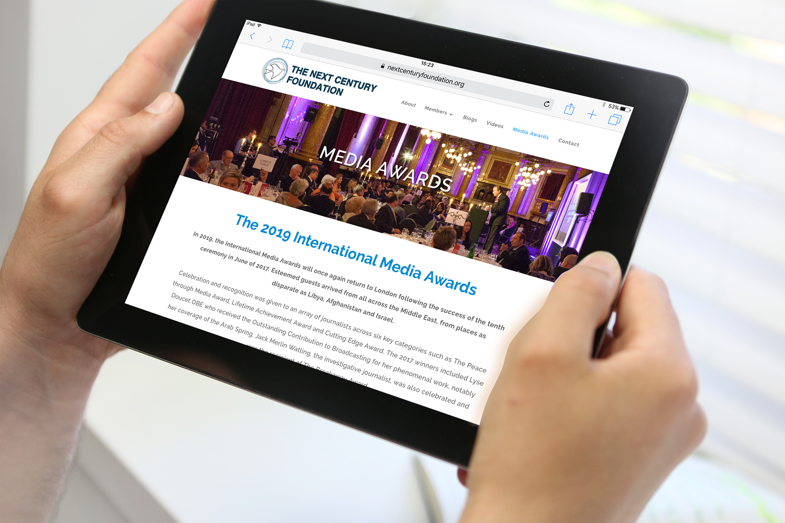 Bespoke WordPress website design and build for the Next Century Foundation (NCF)