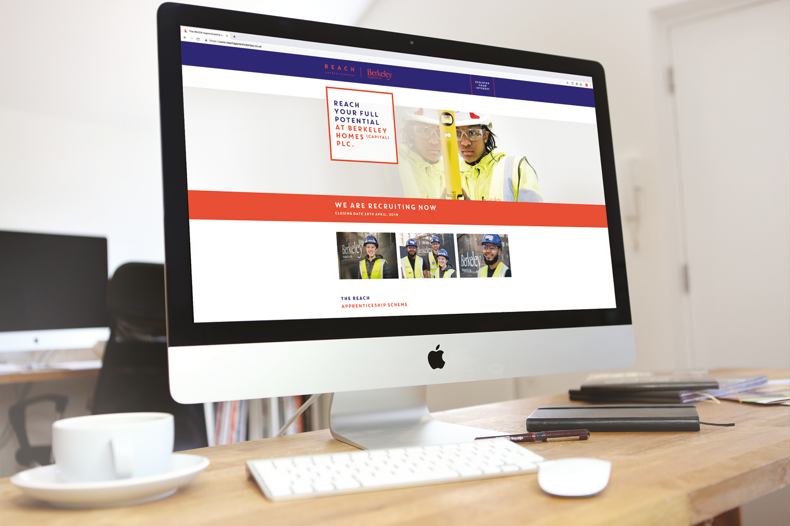 Fully responsive, bespoke website design and build for Berkeley Homes new REACH Apprenticeships programme