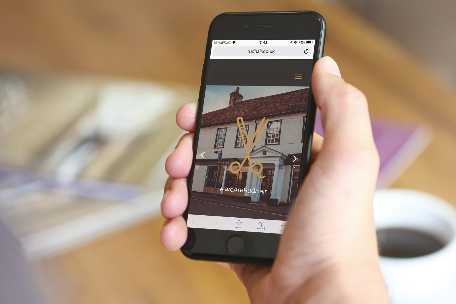 Bespoke WordPress website design and branding for RudHair, Sawbridgeworth