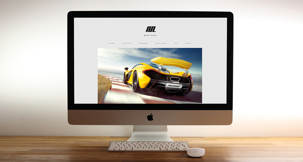 Brand identity and website for Automotive and Jewellery retoucher Mark Lacey