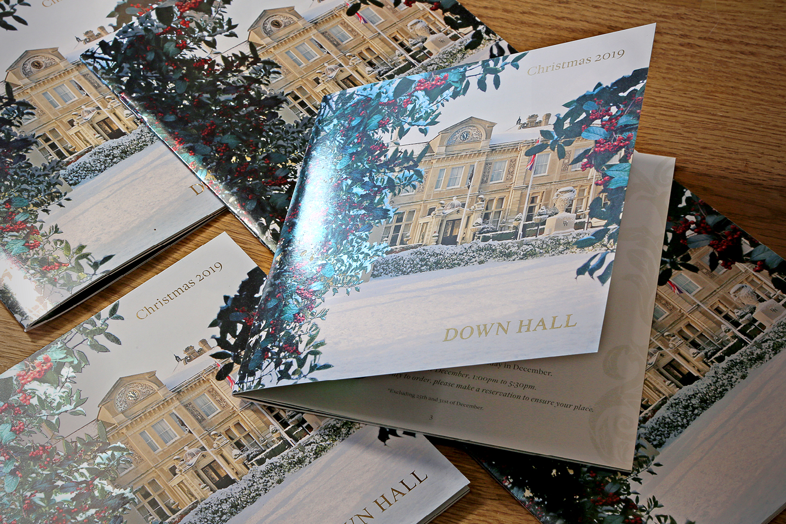Down Hall 2019 Christmas Brochure design & production
