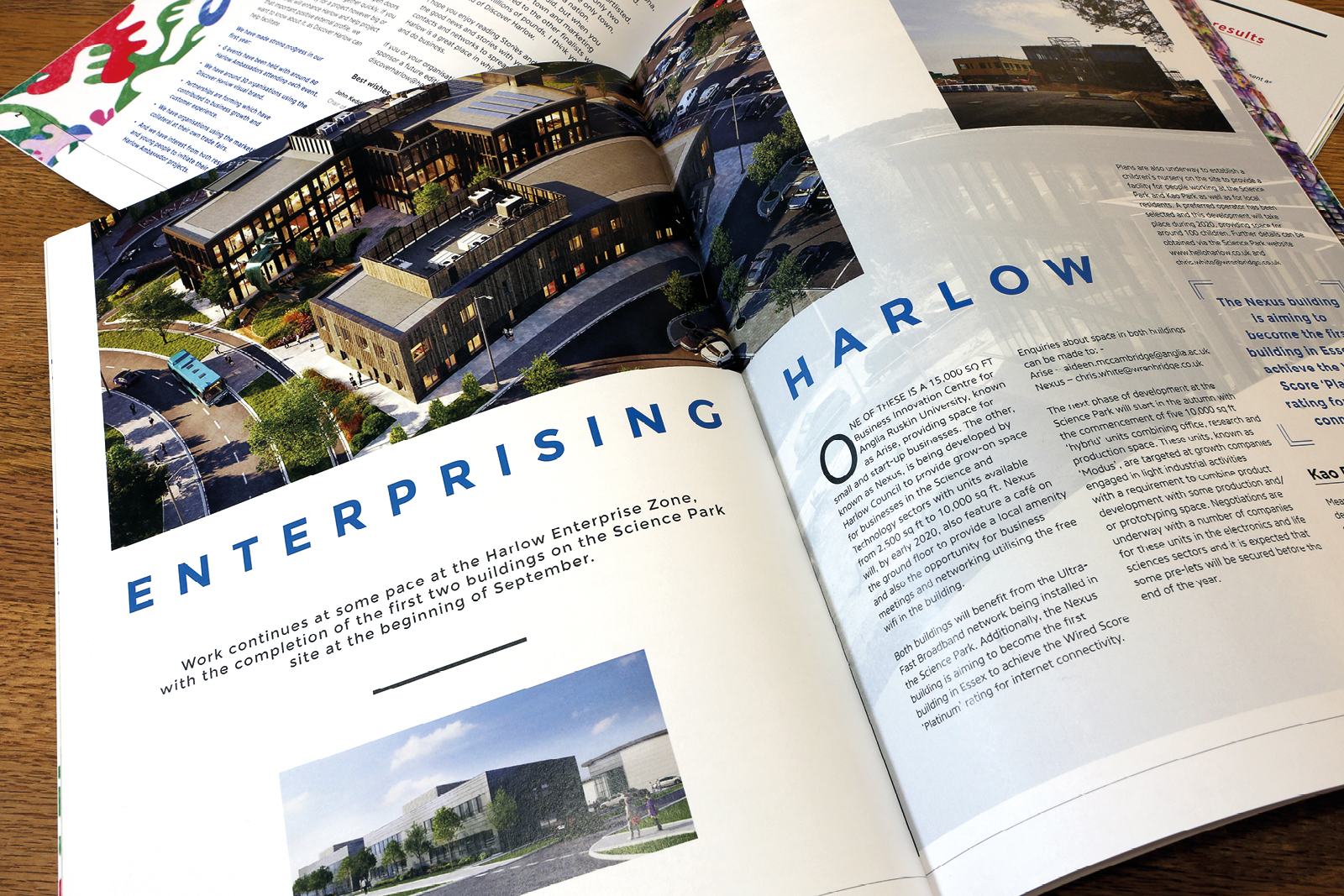 Harlow Stories: Issue 08. Magazine design and production in partnership with Magnificent Stuff and in association with Discover Harlow.